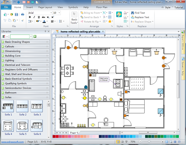 Reflected Ceiling Plan Software – Site Plan Software Free Download