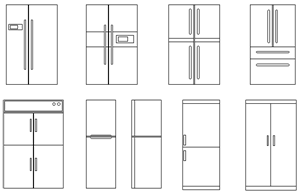 Refrigerator Elevation Symbols