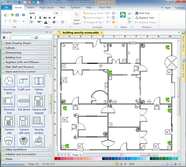 Security and access plan software for Free building layout software