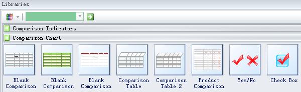 Select Comparison Chart Shape