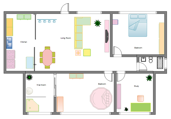 Design home floor plans easily for Free office layout design