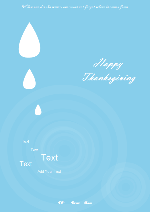 Greeting Card Examples - Thanksgiving Card