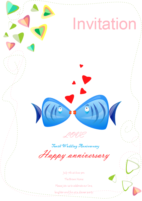 Invitation Card Examples - Wedding Anniversary Invitation Card
