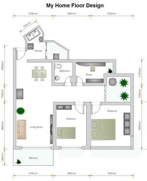 2 Bed Floor Plan Examples