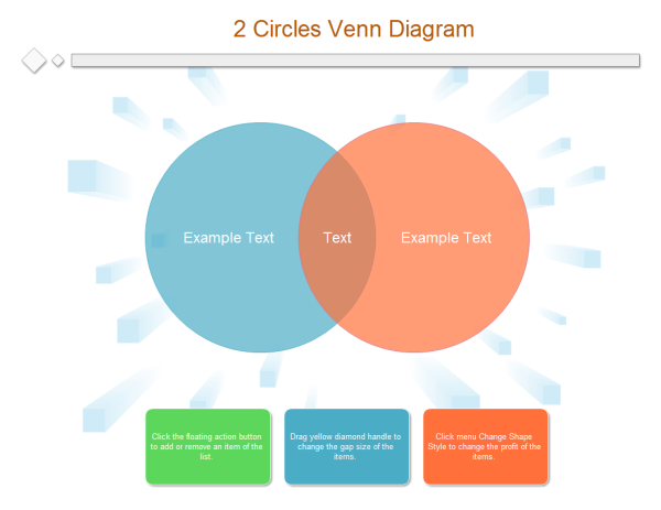 2 circles venn diagram templates and examples, Modern powerpoint