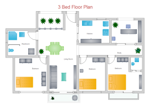 3 Bed Floor Plan Examples