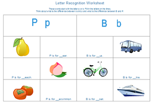 Alphabet Worksheet Examples