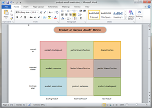 how to create template in php - free ansoff matrix templates for word powerpoint pdf