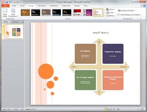 PowerPoint Ansoff Matrix Template