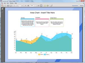 PDF Area Chart Template