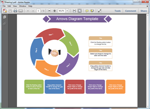 PDF Arrows Diagram Template