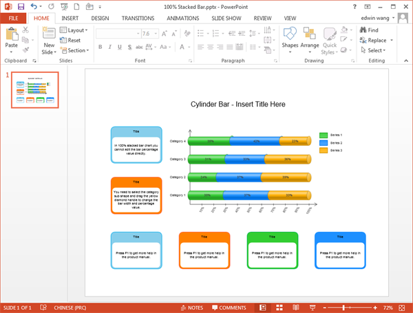how to prepare bar chart in powerpoint