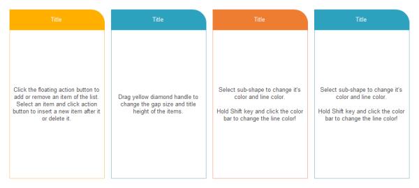 Basic Four Column Chart Template