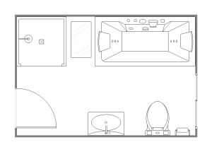 Edraw Bathroom Plan Template