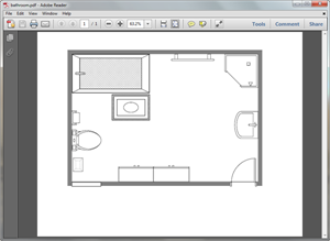 Create Bathroom Plan for PDF