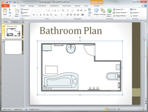 PowerPoint Bathroom Plan Template