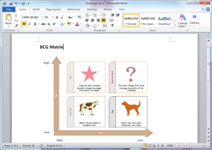Word BCG Matrix Template