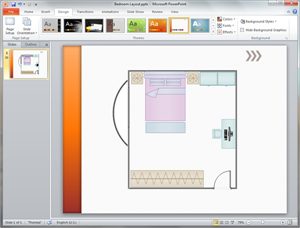 PowerPoint Bedroom Plan Template