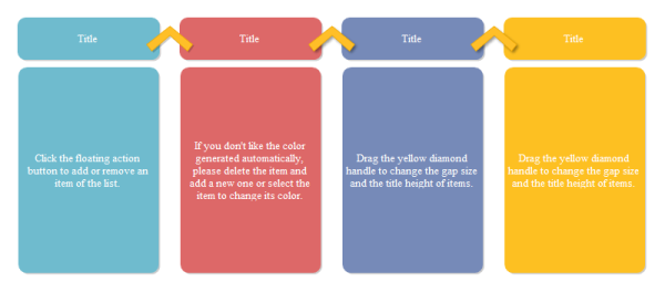 Big Title Style Four Column Chart Template