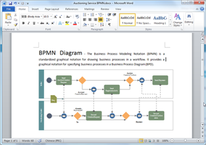 Word BPMN Diagram Template