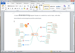 Word Brainstorming Diagram Template