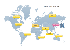 Branch Office World Map Examples