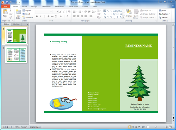 brochure templates for powerpoint, Powerpoint