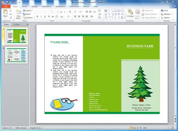 Flyer Template Powerpoint