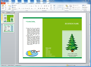 Plantilla de Folleto en PowerPoint