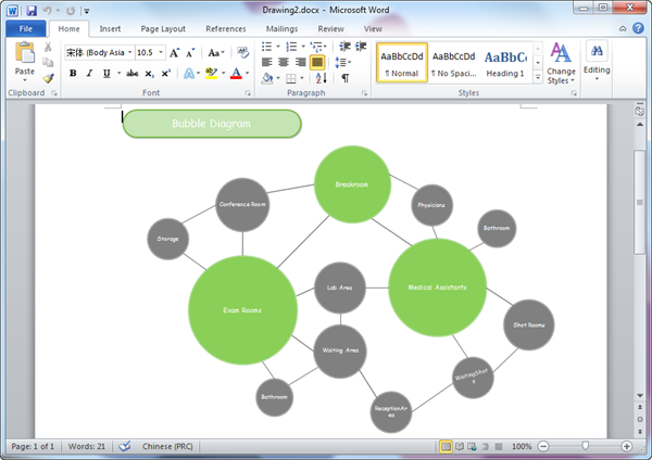 bubble diagram templates for word