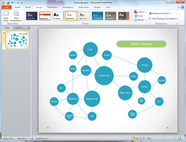 powerpoint bubble diagram template
