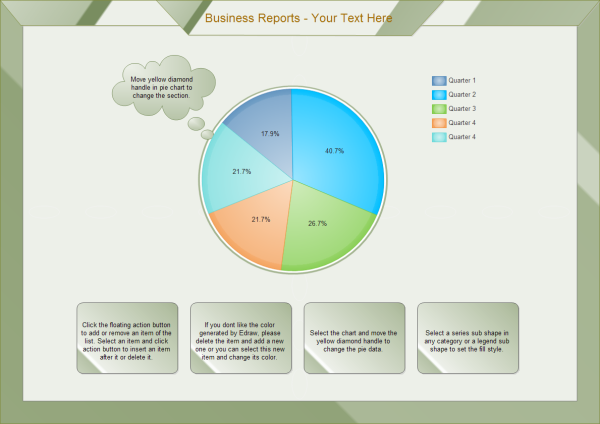 Business Reports Pie Template