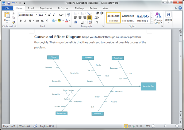 Cause and Effect Diagram Templates for Word