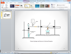 PowerPoint Chemistry Experiment Diagram Template