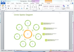 Word Circle Spoke Diagram Template