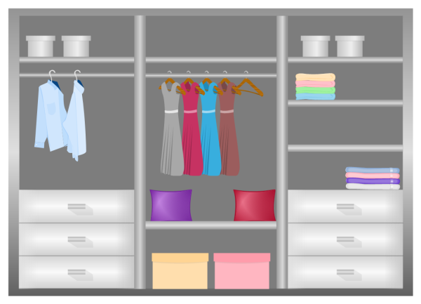 Closet Design Diagram Template