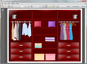 PDF Closet Plan Template