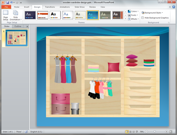 PowerPoint Closet Plan Template