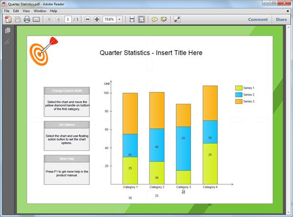 PDF Column Chart Template