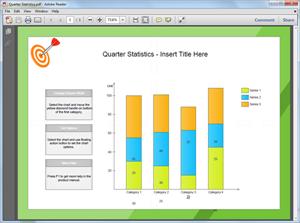 Modelo de gráfico de coluna em PDF