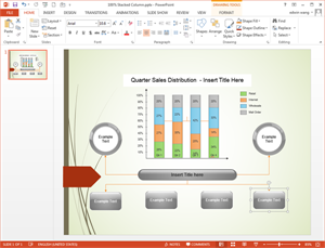 PowerPoint Column Chart Template