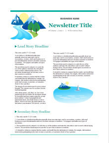 Company Newsletter 200  Business Newsletter Templates Free Download