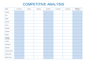 Free Competitive Analysis Templates for Word, PowerPoint, PDF
