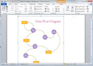 Free data flow templates for word powerpoint pdf word data flow template ccuart Images