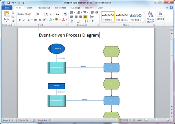 Word EPC Diagram Template