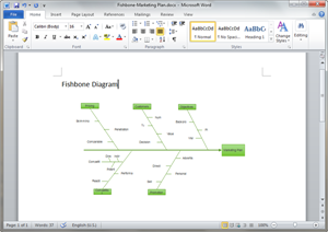 free fishbone diagram templates for word  powerpoint  pdfword fishbone diagram template