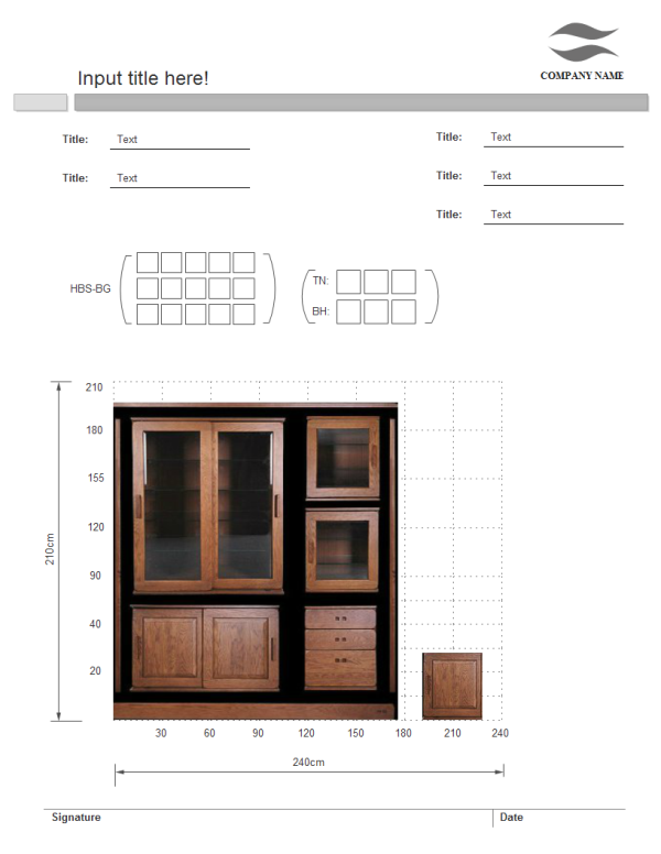 Furniture Sales Elevation Template