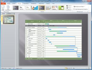 Plantilla de Diagrama de Gantt PowerPoint