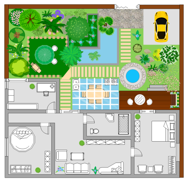 Garden plan examples and templates for Landscape design examples