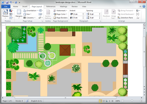 Garden design templates for word for Sample landscape plan